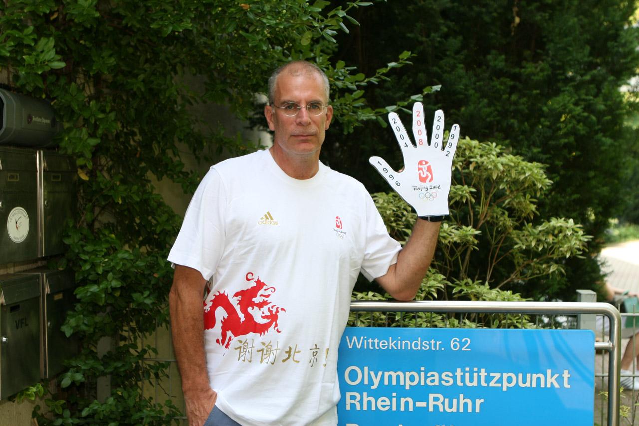 2008 eine Handvoll olympische Spiele